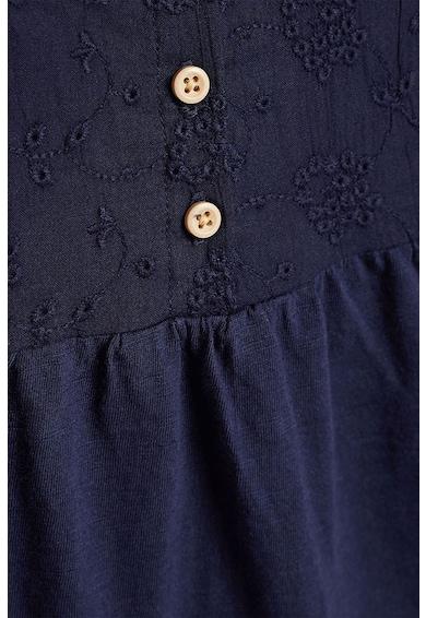 NEXT Bővülő fazonú póló hímzett részletekkel Lány