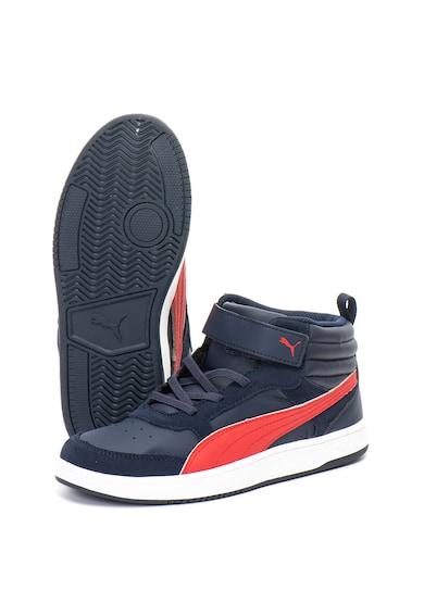 Puma Pantofi sport de piele ecologica Rebound Street v2 Baieti