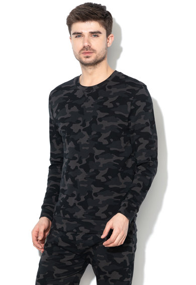 Skiny Bluza de casa, cu imprimeu camuflaj Barbati