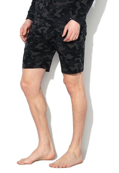 Skiny Pantaloni scurti de casa, cu imprimeu camuflaj Barbati