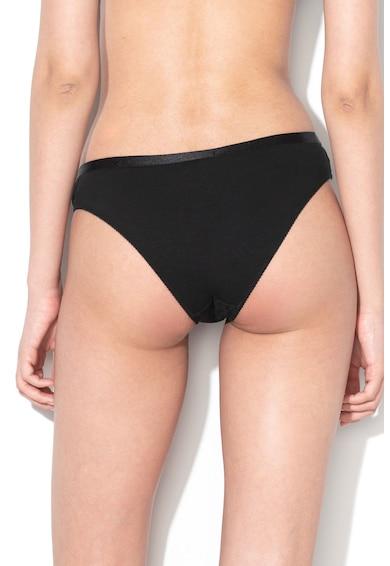 Emporio Armani Underwear Chiloti cu insertii de dantela si accesoriu logo Femei