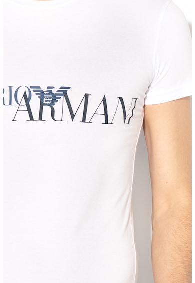Emporio Armani Underwear Logómintás otthoni póló férfi