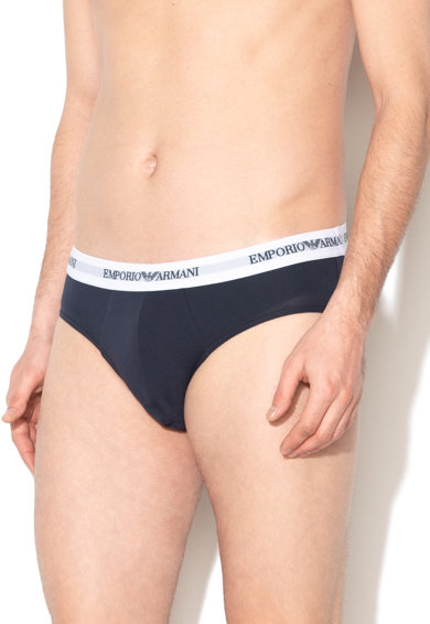 Emporio Armani Underwear Set de chiloti cu banda logo in talie - 2 perechi Barbati