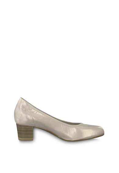 Tamaris Pantofi de piele cu aspect stralucitor Femei