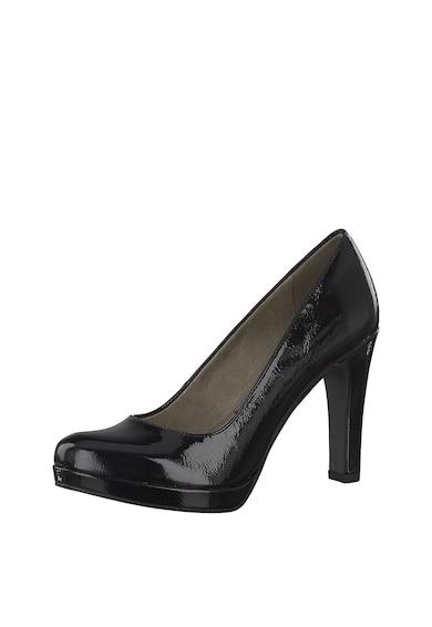 Tamaris Pantofi cu aspect lacuit si toc clasic Femei