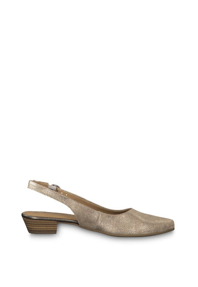 Tamaris Sandale slingback de piele cu apect stralucitor Femei