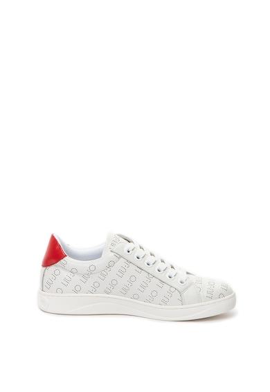 Liu Jo Tyra bőr sneakers cipő perforált dizájnnal női