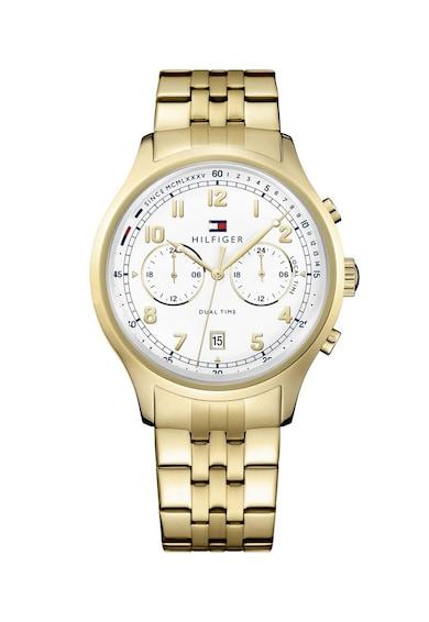 Tommy Hilfiger Овален часовник с метална верижка Мъже