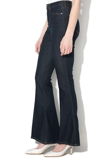 GUESS JEANS Bővülő farmernadrág kontrasztos öltésekkel női