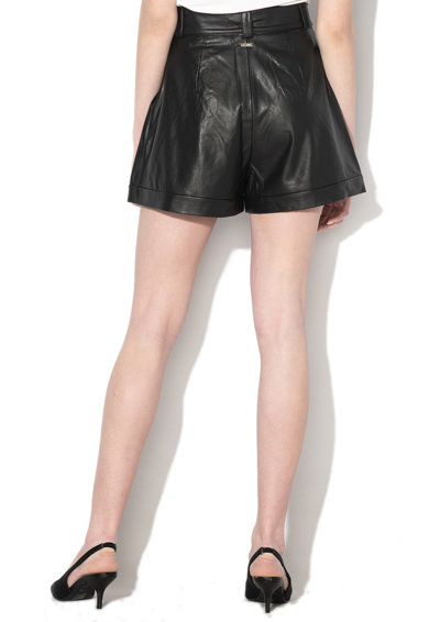 GUESS JEANS Pantaloni scurti de piele ecologica cu cordon detasabil in talie Femei