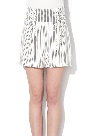 GUESS JEANS Csíkos rövidnadrág megköthető részekkel női