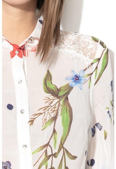 GUESS JEANS Camasa cu model floral si insertii de dantela Femei