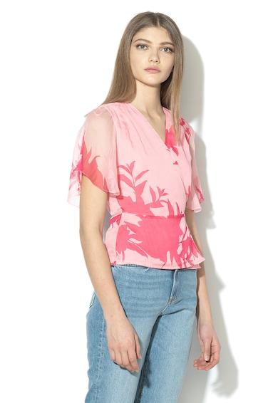 GUESS JEANS Флорална копринена блуза Жени