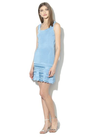 GUESS JEANS A-vonalú kötött ruha bordázott dizájnnal női