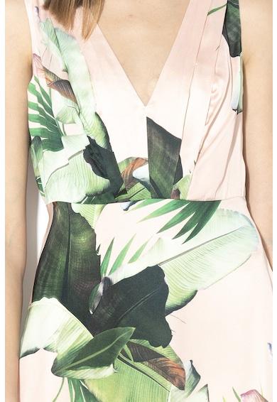 GUESS JEANS V-nyakú szatén maxiruha női