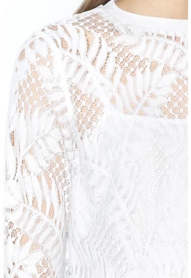 GUESS JEANS Hímzett, átlátszó csipkepulóver belső toppal női