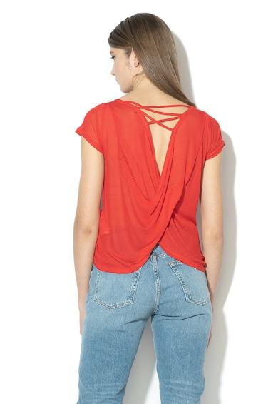 GUESS JEANS Bluza din modal cu model suprapus pe partea din spate Femei