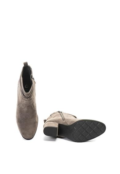 Jana Shoes Велурени боти с флорална бродерия Жени