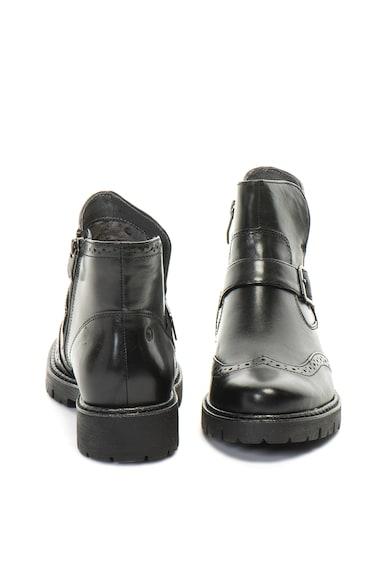 Jana Shoes Кожени боти с декоративна каишка Жени