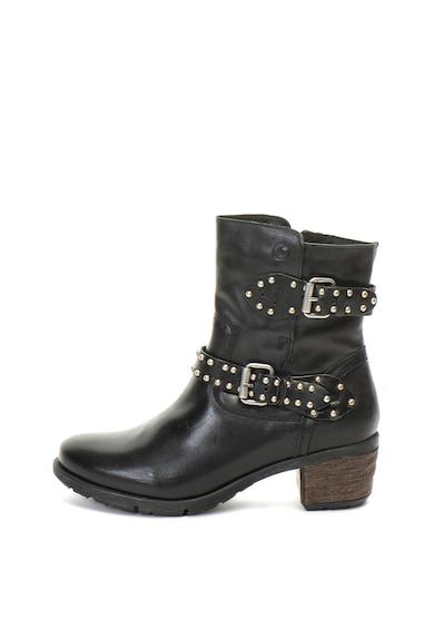 Jana Shoes Кожени боти с капси Жени