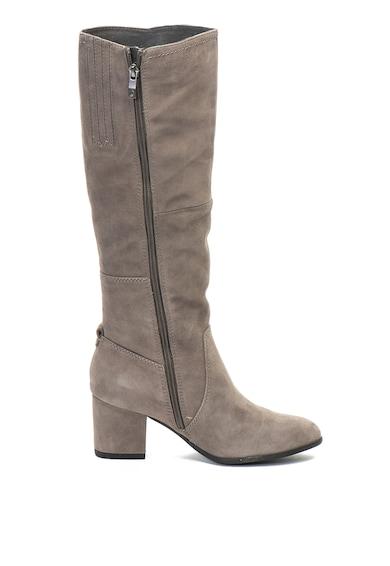 Jana Shoes Велурени ботуши с масивен ток Жени