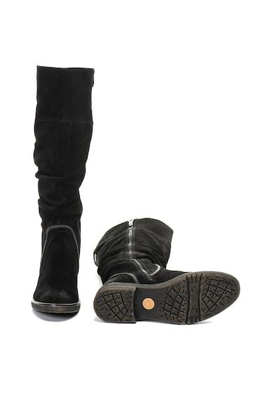 Jana Shoes Cizme de piele intoarsa cu detaliu cu catarama Femei