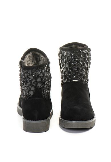 Jana Shoes Велурен боти с еко пух Жени