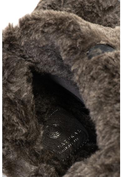 Jana Shoes Кожени ботуши с подплата от еко пух Жени