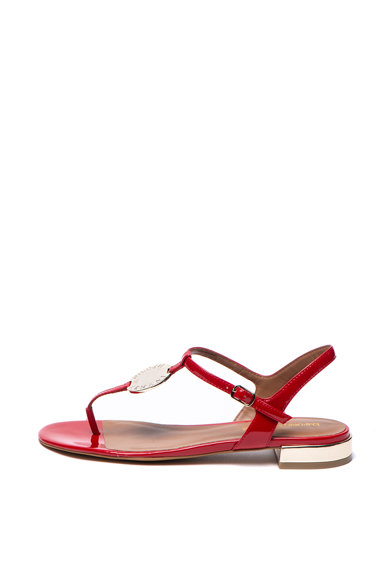 Emporio Armani Sandale de piele ecologica cu logo Femei