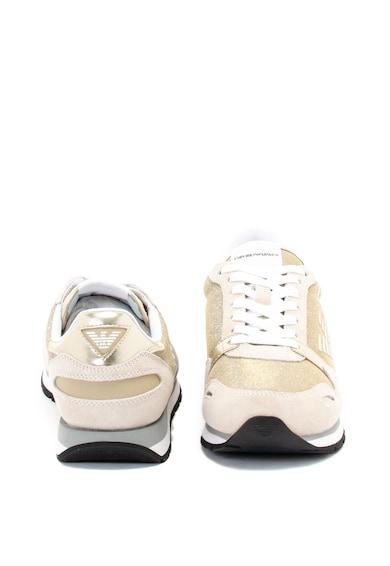Emporio Armani Csillámos sneaker nyersbőr anyagbetétekkel női