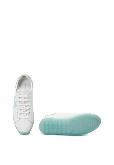 Emporio Armani Bőr sneaker strasszköves logóval női