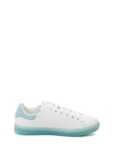Emporio Armani Pantofi sport de piele cu logo din strasuri Femei