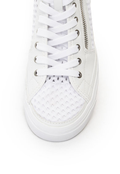 Emporio Armani Hálós anyagú, magas szárú cipő műbőr részletekkel női