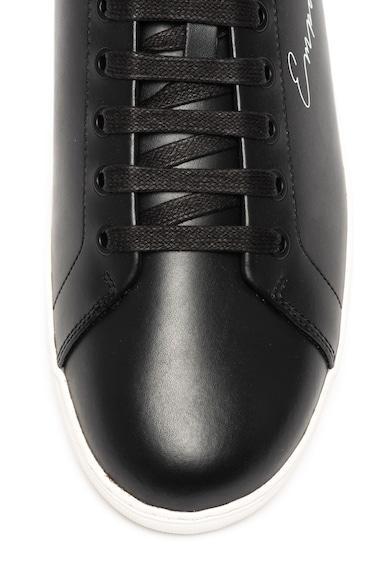 Emporio Armani Bőr sneaker logómintával férfi