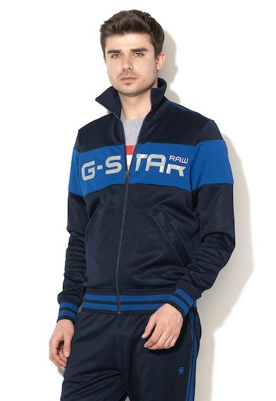 G-Star Raw Bluza sport colorblock cu fermoar si logo Alchesai Barbati