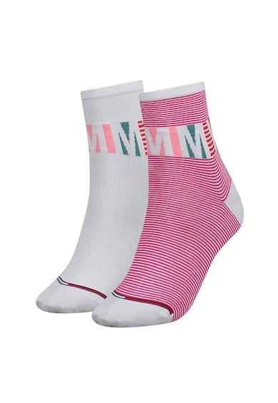 Tommy Hilfiger Къси чорапи с разнороден десен - 2 чифта Жени