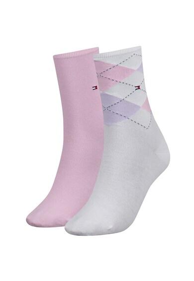 Tommy Hilfiger Egyszínű&mintás rövid zokni szett - 2 pár női