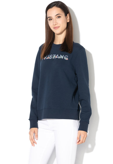 Mustang Bluza sport cu imprimeu logo si broderie florala Femei