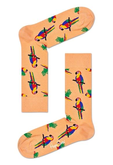 Happy Socks Sosete unisex cu imprimeu cu papagali Femei