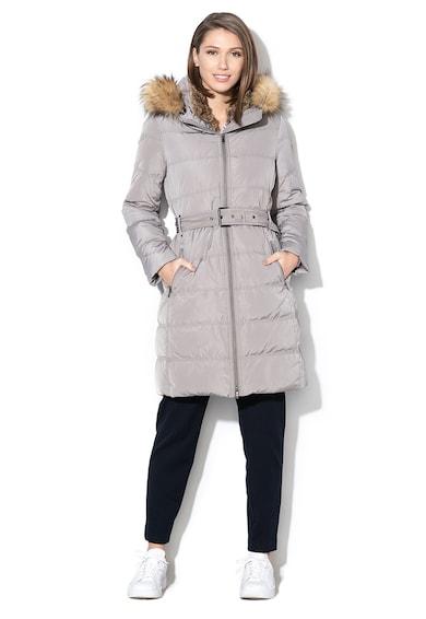 Esprit Pihével bélelt télikabát elcsomagolható kapucnival női