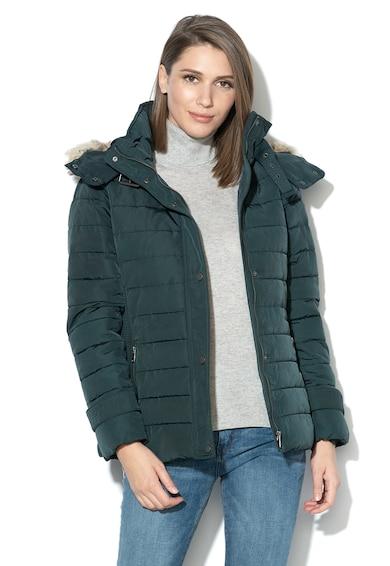 Esprit Bélelt télikabát levehető kapucnival női