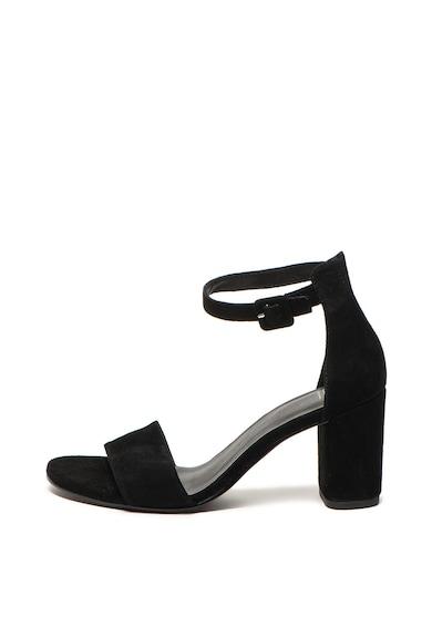 Vagabond Shoemakers Sandale de piele intoarsa cu toc masiv Penny, Femei