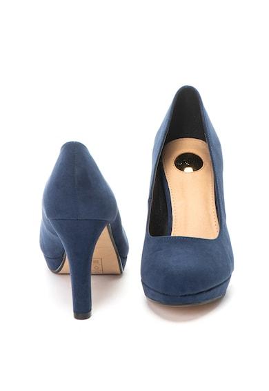 Buffalo Pantofi cu platforma inalta, de piele intoarsa ecologica Femei