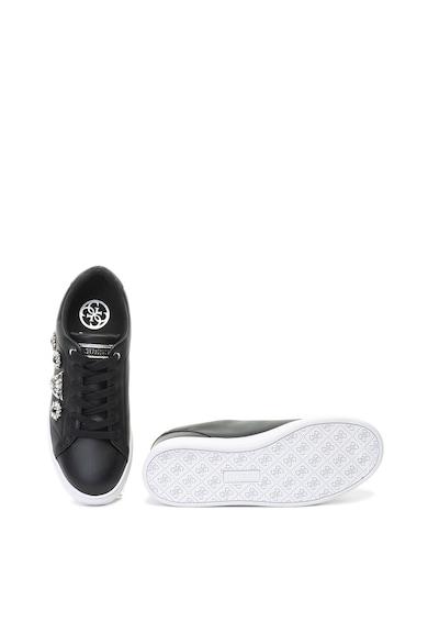 Guess Pantofi sport de piele ecologica cu strasuri Femei