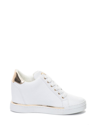 Guess Pantofi sport cu toc wedge ascuns si model logo Femei