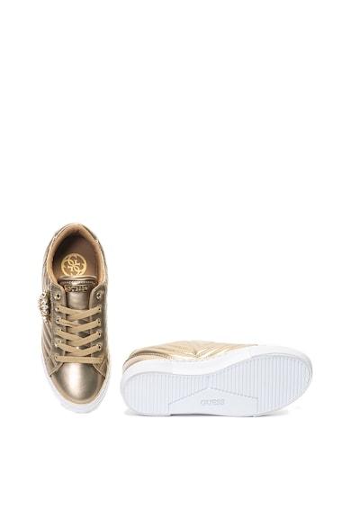 Guess Fémes és steppelt hatású sneakers cipő női