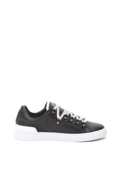 Műbőr sneakers cipő logóval - Guess (FM5BAR-LEA12-BLACK) 88c33988bf