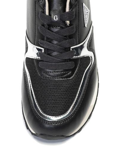 Guess Спортни обувки от еко кожа с метализирани детайли Мъже