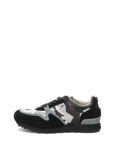 Guess Pantofi sport cu insertii de piele intoarsa si model geometric Barbati