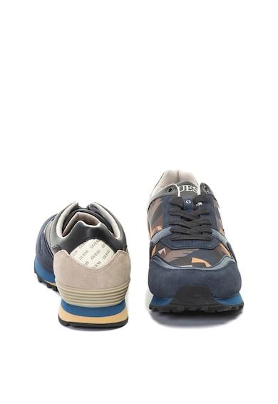 Guess Pantofi sport cu garnituri de piele intoarsa si cu imprimeu camuflaj Barbati